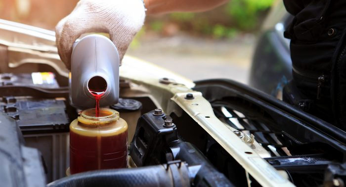 filling power steering fluid